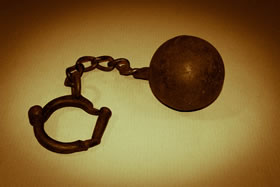 Photo of ball and chain