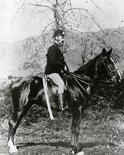 Mounted Constabulary Officer, 1870s. New Zealand Police Museum Collection (2013/698/1)