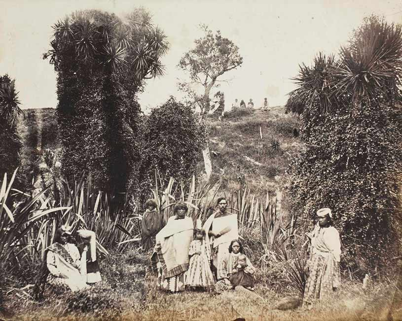 Followers of Te Maiharoa, 1877. G M Webster Album: Hocken Collections Uare Toaka o Hakena (P1995-042-022b)