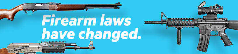 Firearms laws have changed