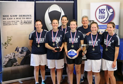 New Zealand Communities Football Cup 2015 Women's 5 Aside winners - New Zealand Police