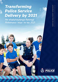 Cover of 'Transforming Police Service Delivery by 2021' document