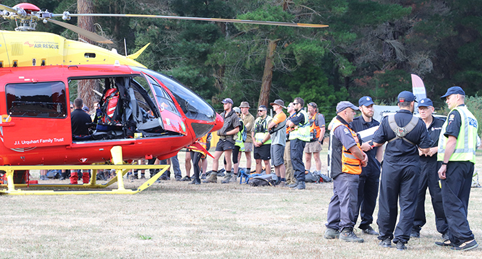Phil (second from right) at one of the many SAR exercises he has organised for volunteers, partner agencies and Police.