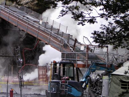 Image showing the Gorniczy Agregat Gasniczy (GAG) jet inertisation unit, at the Pike River mine.