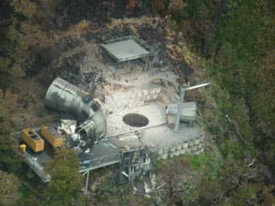 An image of the vent shaft in the morning of Tuesday 7th December 2010.