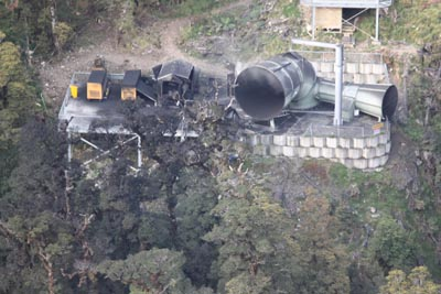 An images of the vent area after the explosion on Friday 26 November.
