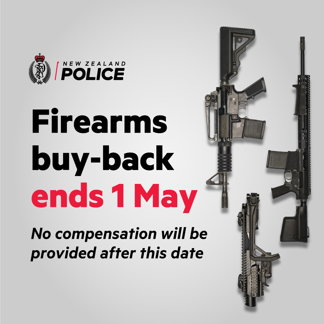 Firearms buy-back ends 1 May