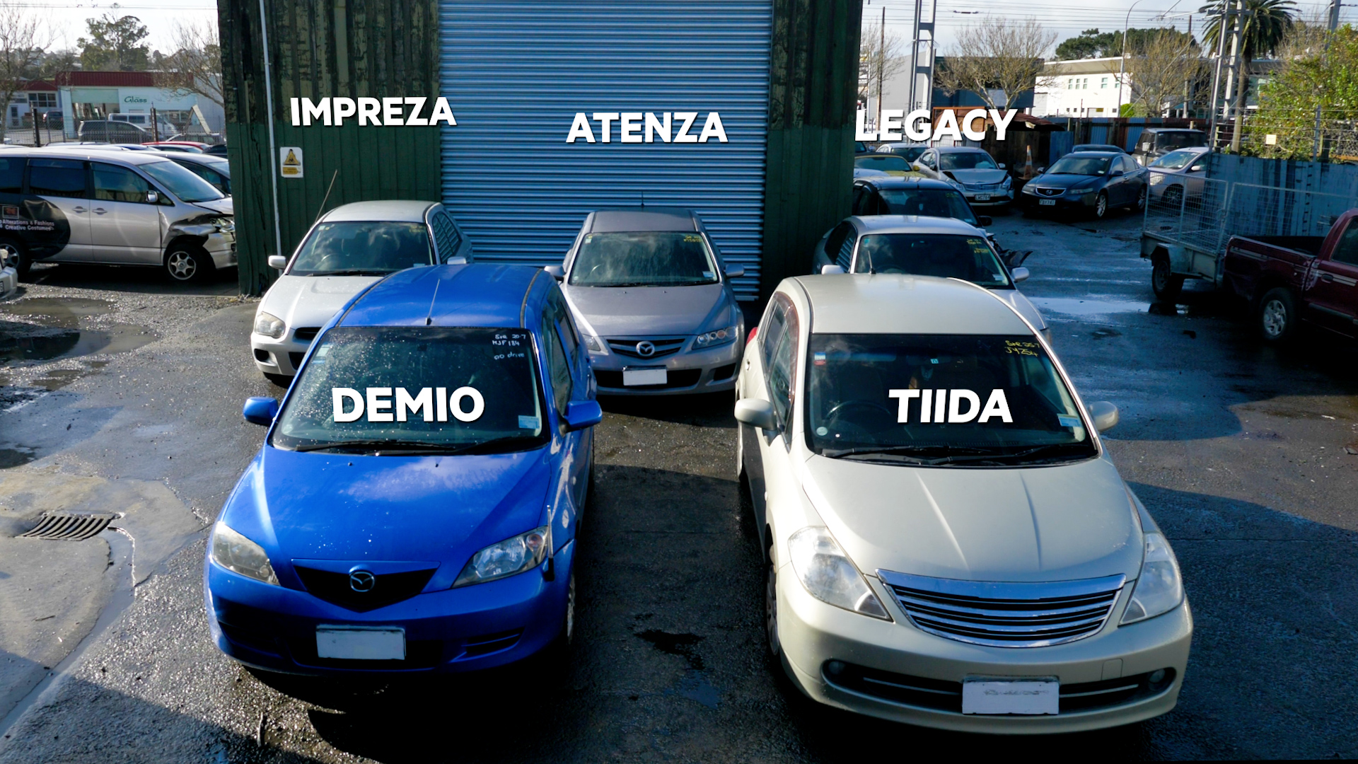 The five vehicle models made up over 25% of all vehicles stolen across Auckland in the past year.