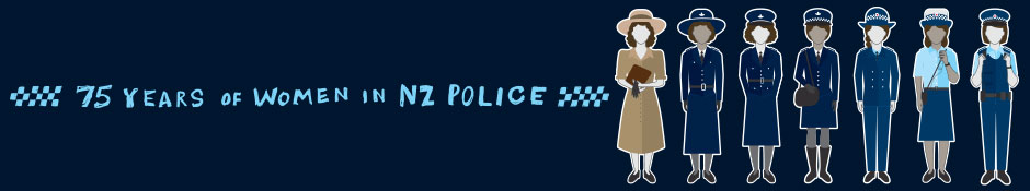 75 years of women in Police - what women wore banner