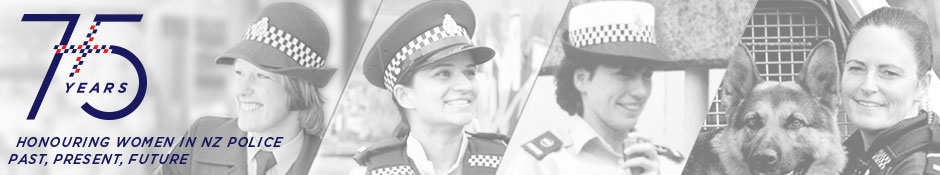 75 years of women in Police banner