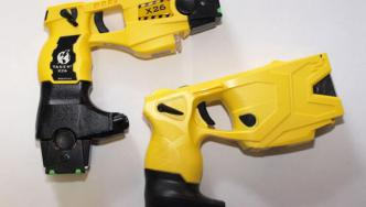 Appropriately trained Police first response staff will routinely carry X26 (left) & X2 Taser to enhance public & Police safety