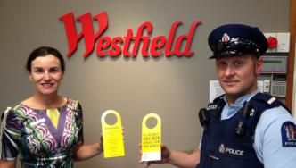 Constable Trevor Gurney with Westfield Riccarton Centre Manager Helen Ronald