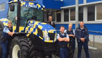 The New Zealand Police tractor is now in Invercargill