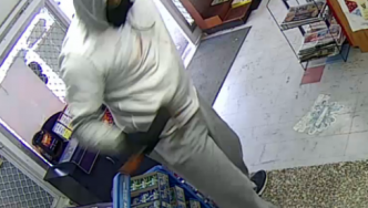 Offender 1 from the robbery at Kingsway superette