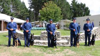 Graduating handlers at Police Dog Training School