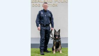 Patrol dog champions Senior Constable Craig Charles and Ruger from South Australia.