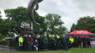 Gore Police welcome White Ribbon Riders to Southland