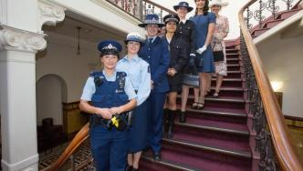 A snapshot of women in Police, taken from the 75 years of women in Police celebration in 2016.