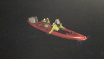 Two kayakers were rescued after drifting offshore