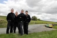 The North Wales Rural Crime Team, from left: Sergeant Rob Taylor and PCs Dave Allen, Paul Davies and Dewi Evans