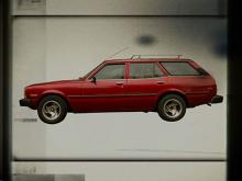 Red station wagon