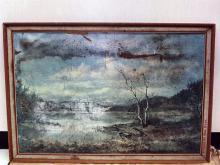 A large landscape print found near Katrina's body.