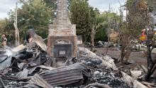 The house was razed to the ground