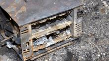 Russell's burnt out benchtop oven