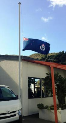 The Police flag flew at half-mast as Wellington Dog Section said farewell to their colleague.