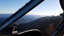 There were blue skies for the flight in to Mt Riley