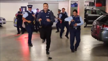 Sergeant Sonny Iosefo shows how it's done