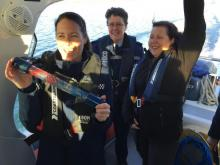 South: By sea to Port Chalmers, with the help of our friends at NZ Coastguard.