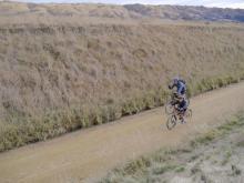 South: On the Central Otago Rail trail.