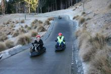 South: Going by luge in Queenstown.
