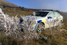 Hoar frost on rose hips, by Senior Constable Bruce Dow.