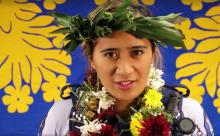 Constable Anne Napara, as seen in her language week video