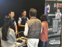 Constables Jin Nie (left) and Tom Li meet some interested Expo-goers
