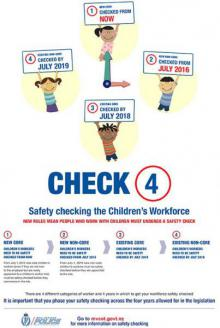 VCA children's workers safety vetting poster