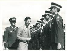 Prince Charles meets Cadets from the No 25 HRH Prince of Wales. Cadet Wing 1981