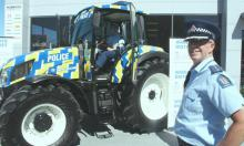 A-tractive: Inspector Paul Carpenter with National Prevention Manager, Superintendent Tusha Penny with the Police tractor