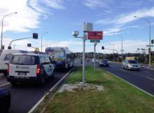 Te Irirangi intersection (camera on median strip)