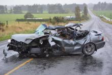 Serious crash Edendale