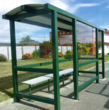 It is unclear when the shelter, similar to this one, was stolen but it has occurred between June and August.