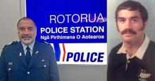 Sergeant Lehi Hohaia today and in his rugby heyday.