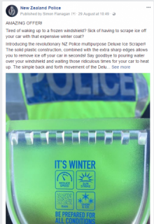 Scraper given out to motorists