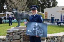 Constable Jane Dunn, Wellington Police Forensic Imaging,best photo for the 2018 Police Dog Trust Calendar