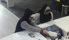 The men entered the store at 1.20 pm on Friday 6 October, 2017