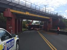 Trucking blocking road