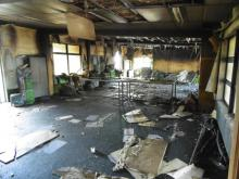 Green Bay Primary School fire - fire damage interior