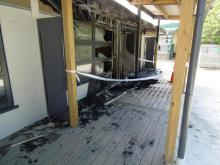 Green Bay Primary School fire - fire damage exterior